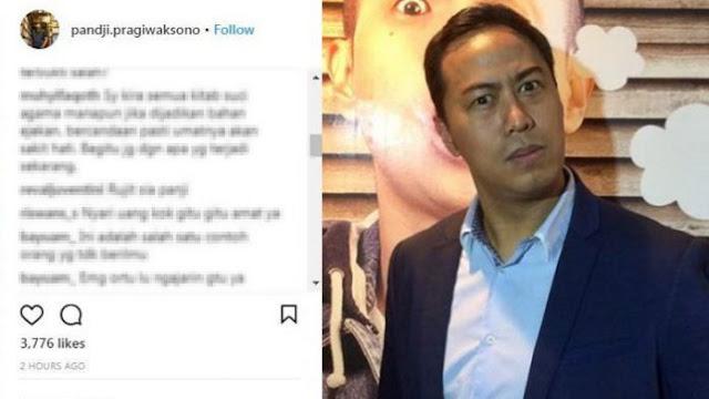 Pandji Pragiwaksono Dihujat Netizen di Media Sosial, Inilah Penyebabnya