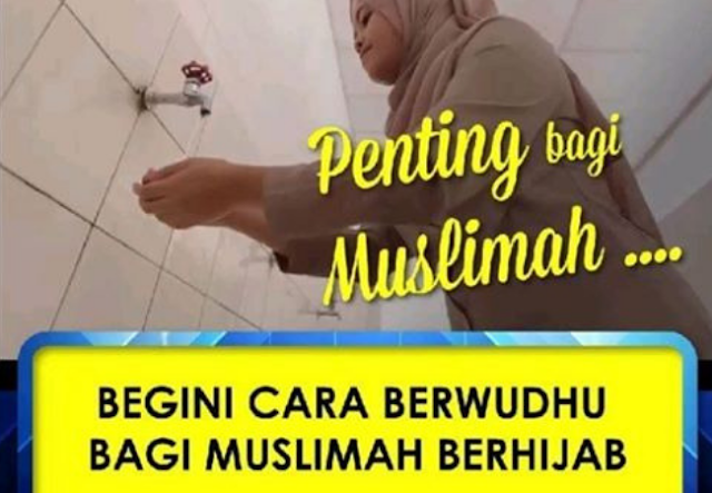 Solusi Bagi Wanita yang Berwudhu di Tempat Umum Tanpa Melepas Hijab