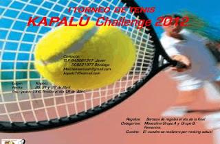 I Torneo de Tenis KAPALÚ Challenge 2012 3