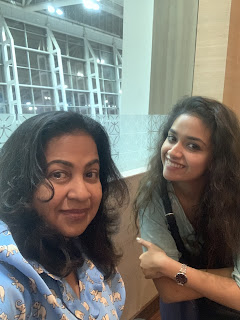 Keerthy Suresh with Cute Lovely Smile with Radhika Mam at SIIMA Awards 2019