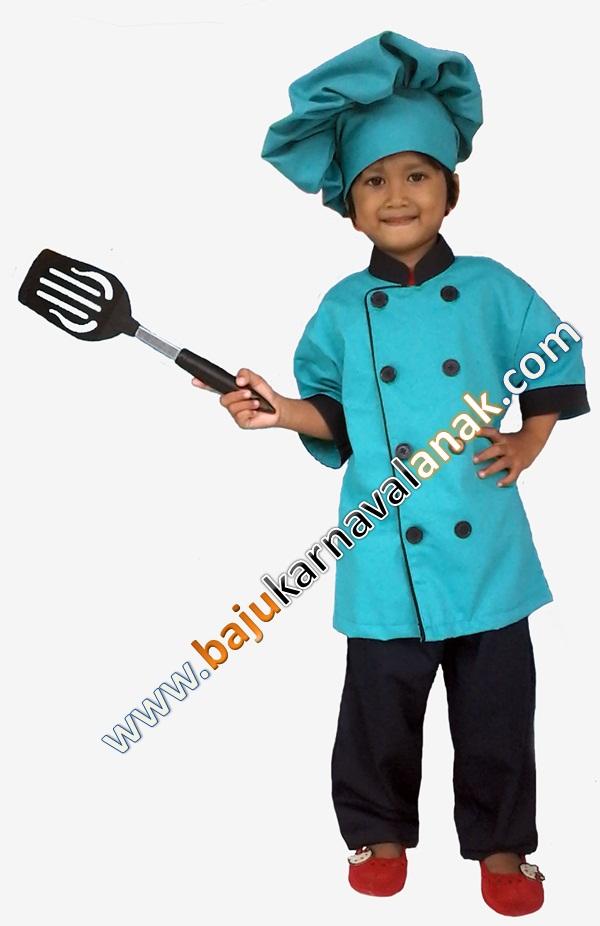 baju karnaval anak kostum profesi koki