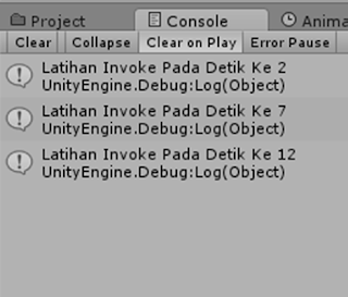 Program C# Unity : Materi 22 - Invoke