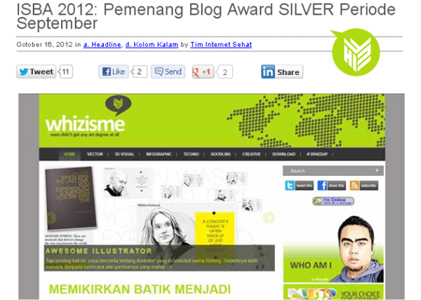 [DESIGN AND CREATIVITY] Blogging competition, ICTWatch, ISBA 2012 Winner