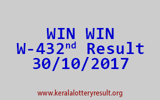 WIN WIN Lottery W 432 Results 30-10-2017