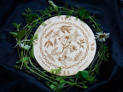 Modern Herbal Pendulum Board by Positively Mystic