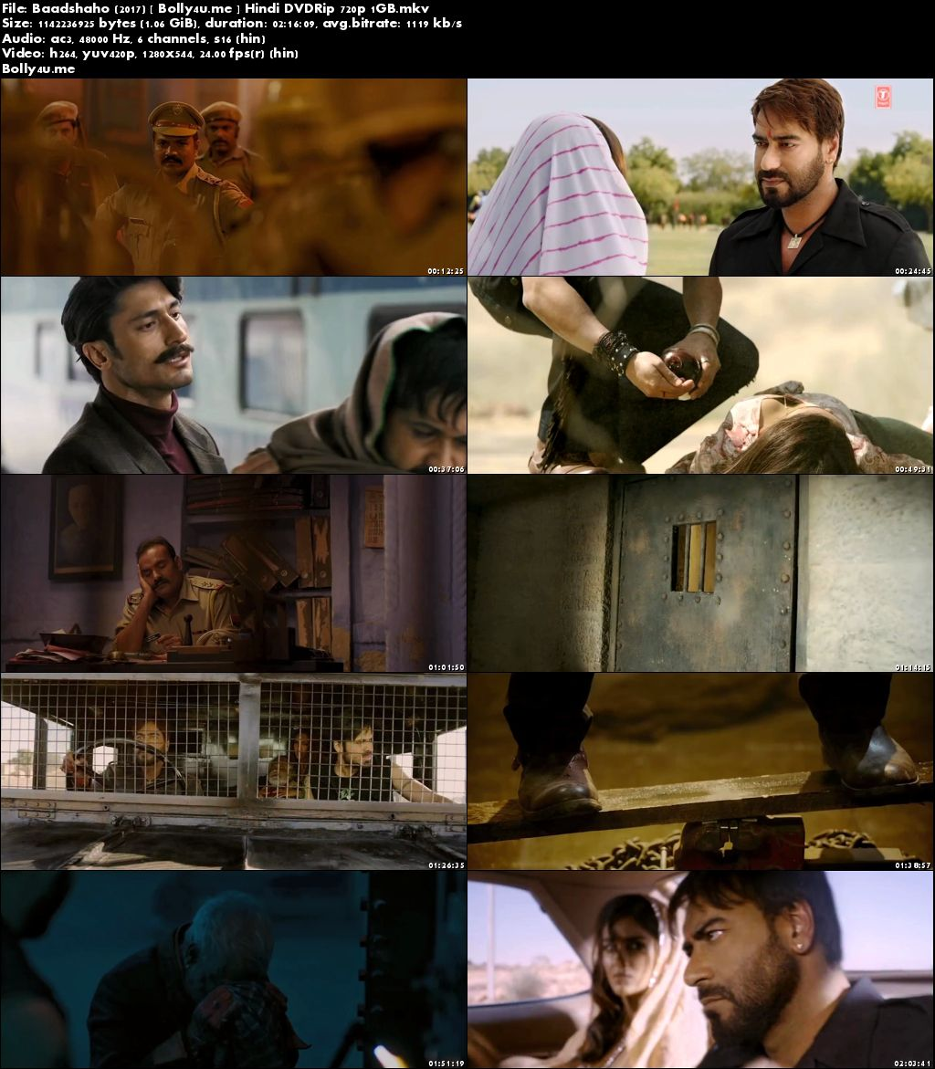 Baadshaho 2017 DVDRip 400Mb Full Hindi Movie Download 480p