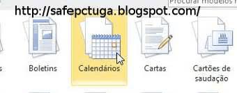 criar calendário word 2015