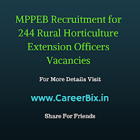 MPPEB Recruitment for 244 Rural Horticulture Extension Officers Vacancies