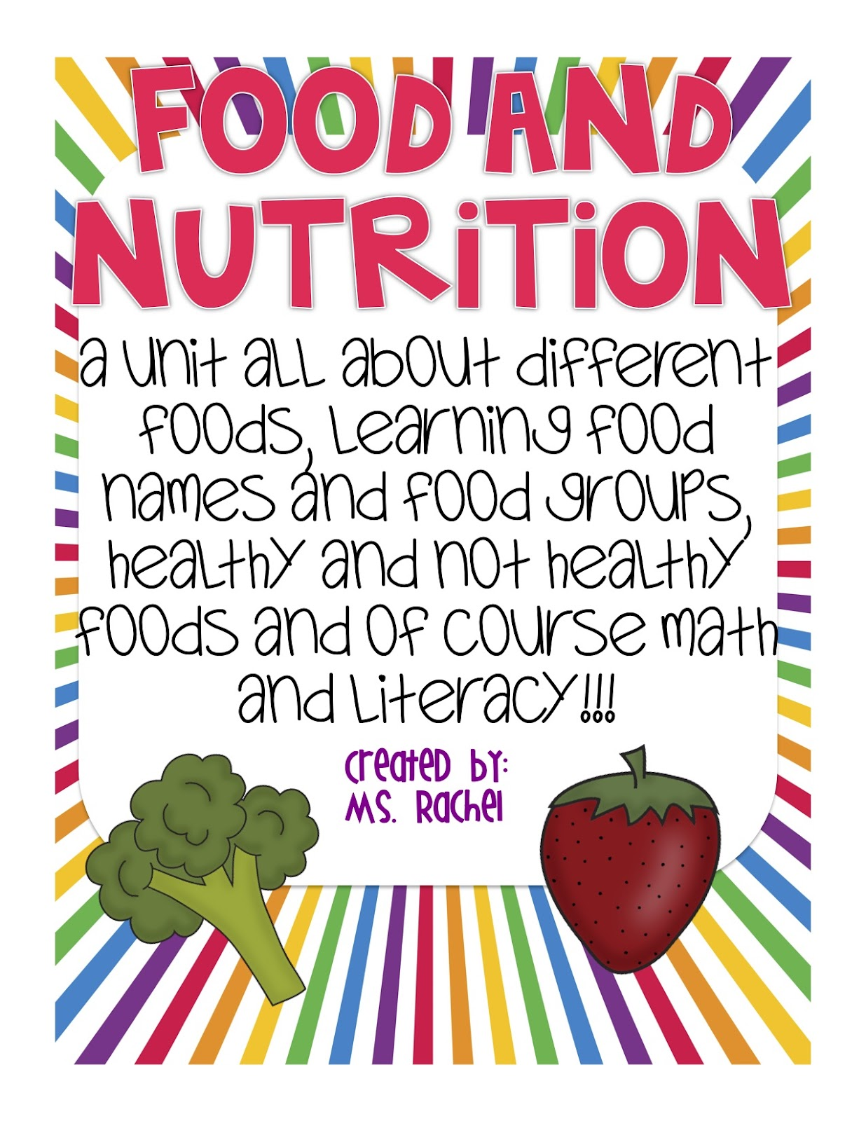 Check Out My Food And Nutrition Unit