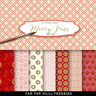 New Freebies Kit of Backgrounds - Merry Fuss