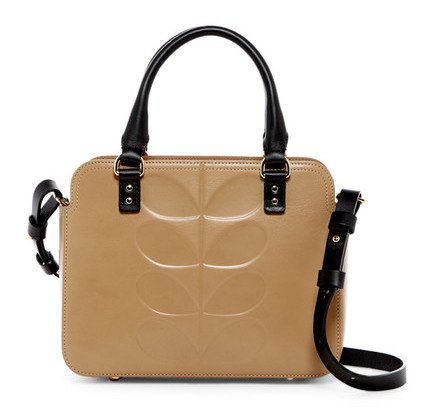 a51d2c472dfd4 Embossed Stem Jeanette Leather Bag in Fawn