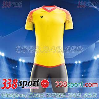 Áo Bóng Đá Không Logo Hot F50 MiZi STA01 Vàng