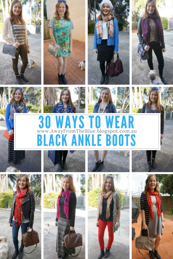 30 ways to wear black leather ankle boots | Away From The Blue blog