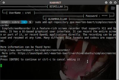 sudo add-apt-repository ppa:maarten-baert/simplescreenrecorder