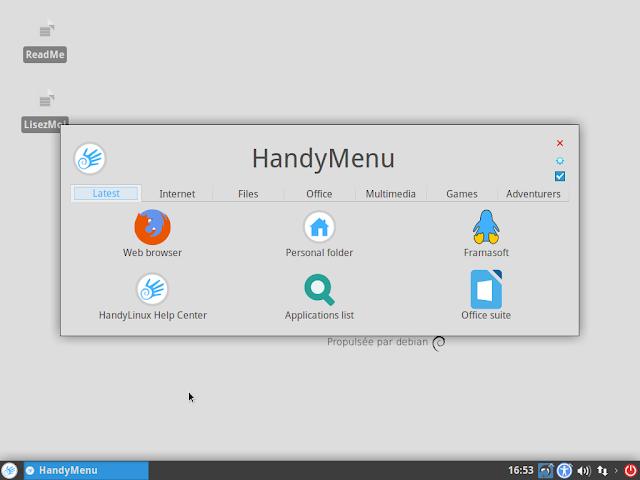HandyMenu in HandyLinux
