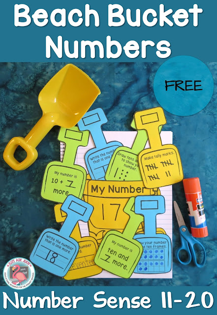 This free, versatile beach bucket and shovel activity can be used to help maintain number sense skills that might otherwise be lost during the summer slump! It is perfect for reviewing and reinforcing number sense skills with kindergarteners and first graders at the end of the school year, during the summer or the beginning of the school year.