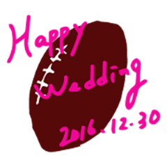 Hitoshi,Happy Wedding!