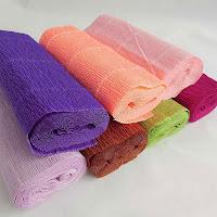 Renkli krepon kağıtları