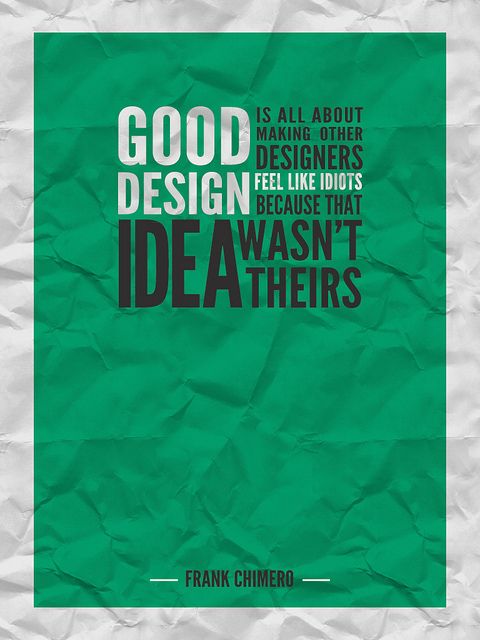 GOOD DESIGN IS...