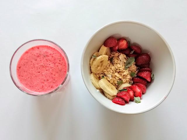 Truskawkowe kombinacje: shake, jogurt i peeling