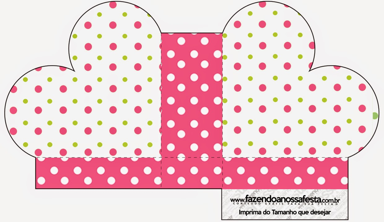 Pink, Green And White Polka Dots: Free Printable Boxes
