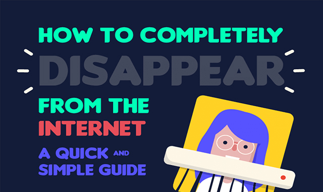How to Disappear From the Internet Completely #infographic