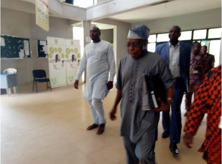 Obasanjo Begins His New Job At NOUN, Meets Students (Photos)