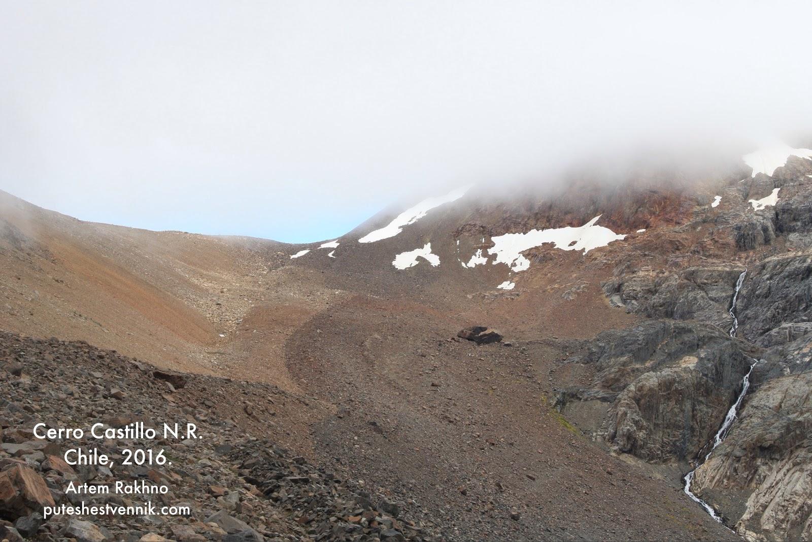 Перевал в горах и облачность