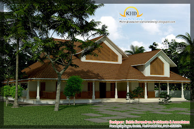 353 square meter (3800 sq. ft) House Elevation