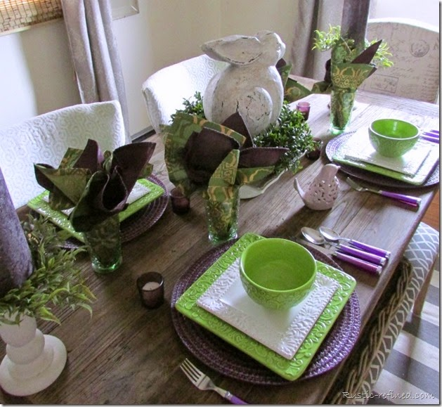 Bright Colored Spring Table Setting
