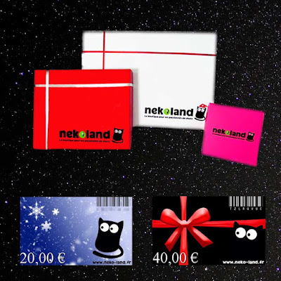 Box chat et carte cadeau originale Nekoland