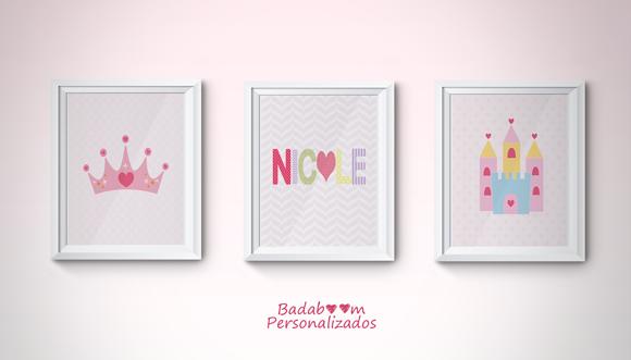 prints, personalizadas, coroa, castelo, printable, quadros, poster, posteres, princesa