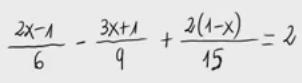 44. Ecuaciones de primer grado - Fracciones