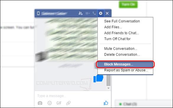 كيفية حظر آي صديق من الدردشة معك على الفيسبوك بدون حذفه