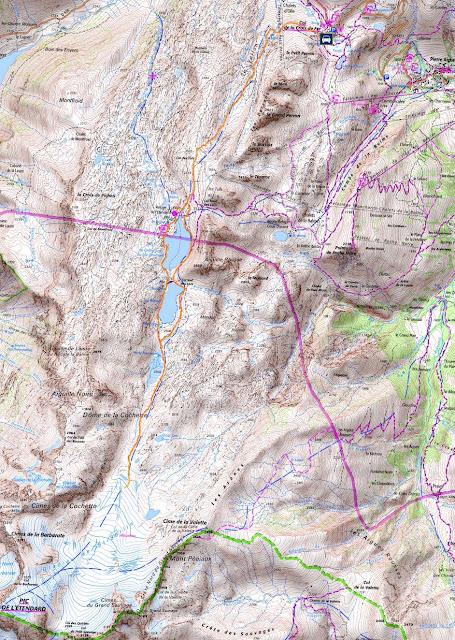 Itinéraire de randonnée - Col de la Croix de Fer au Glacier de Saint Sorlin