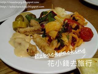 韓國釜山韓式PizzaBUFFET熟食