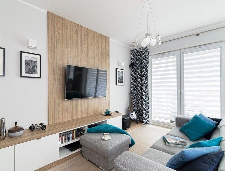 Sala Pequena Con Tv ~ Salas con TV en la pared  Salas con estilo