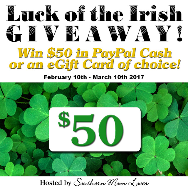 Luck of the Irish $50 of choice Giveaway