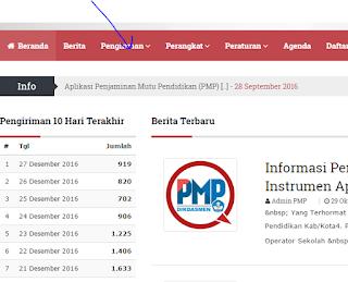Cara Melihat Data PMP Sudah diterima server