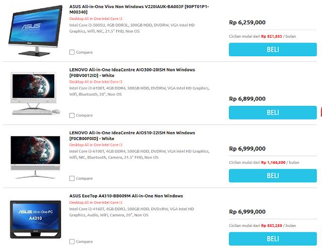Ini Dia Daftar Harga Komputer All in One Core i3 Acer, Asus, Dell, Lenovo, HP, dan MSI, Mana yang Paling Murah?