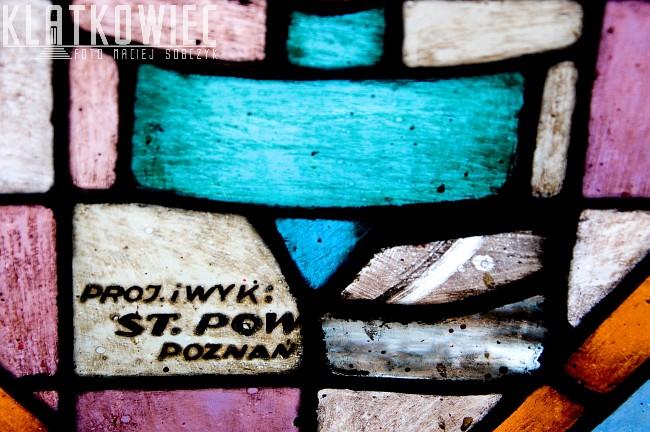 Ostrów Wielkopolski. Witraż. Stanisław Powalisz. Ratusz w Poznaniu.