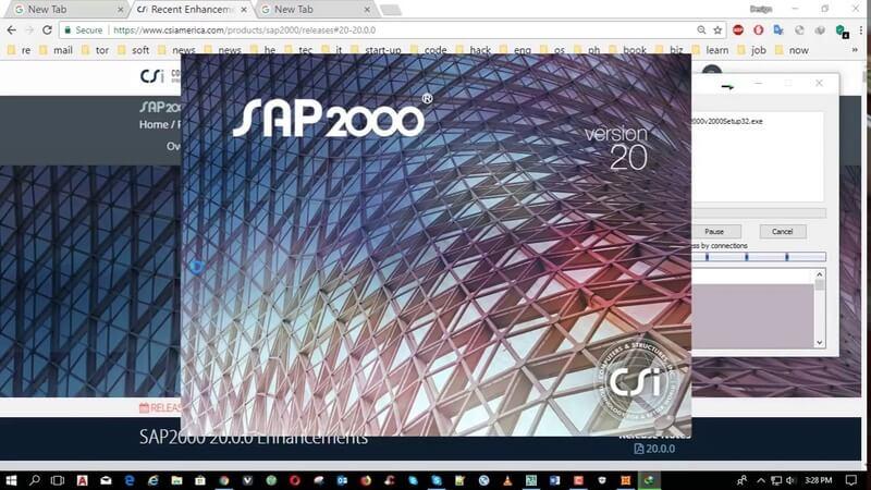 تحميل برنامج ساب  CSI Sap 2000 v20 x86 / x64