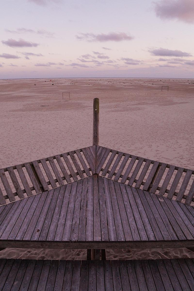 Amrum Wittdün Strand Sonnenuntergang Spielplatz