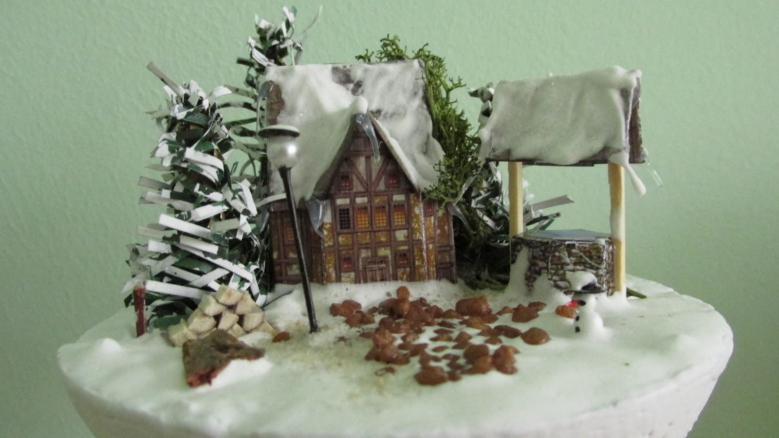 studnia, śnieg miniatura