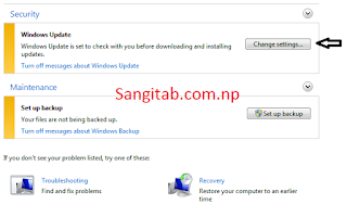 Windows Update Setting