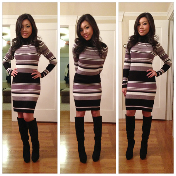 e34cad2f71d5 Style By Cat: OOTD: Stripe Sweater Dress