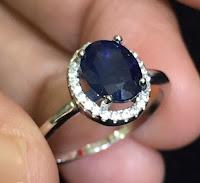 Jual Cincin Perak Batu Safir