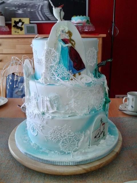 torte von eiskönigin