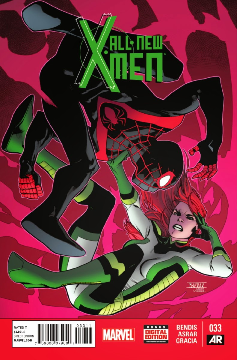 Jean Grey and Miles Morales intertwined