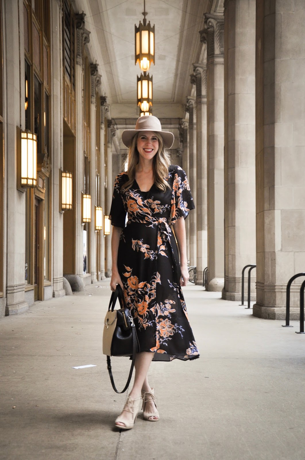 02792afb8f Fairly Yours | Chicago based life and style blog: floral wrap dress